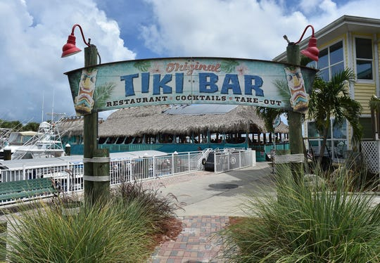 The Original Tiki Bar and Restaurant is seen at its location under the thatch roof on Thursday, Aug. 30, 2018, at the Fort Pierce City Marina.