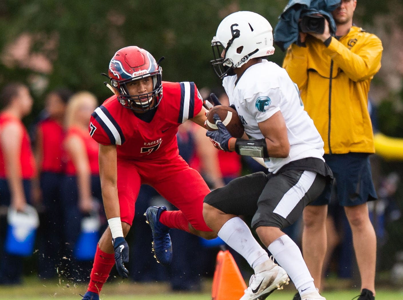 St. Lucie West Centennial plays against Jensen Beach during the high school football game Wednesday, Aug. 29, 2018, at South County Regional Stadium in Port St. Lucie.