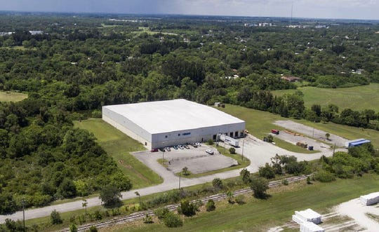 Natalie's Orchid Island Juice Company's 55,000-square foot manufacturing and distribution center at 1650 DiGiorgio Road, south of Edwards Road.