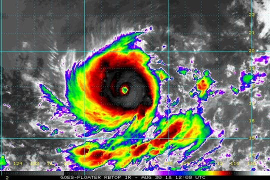 Hurricane Norman grows into a category 4 storm 8:30 a.m. Aug. 30, 2018