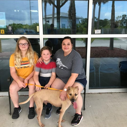 Otis was adopted by his new family on HSSLC's recent Clear the Shelter day.