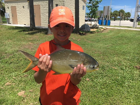 Eli topped of the day with this nice pompano he caught while out with Grandpa Don and family.