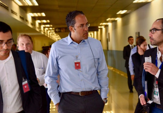 U.S. Rep. Will Hurd on a recent visit to the Northern Triangle of Central America.