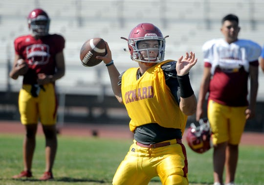 Quarterback Vince Walea has been on target this season for Oxnard High, which plays at Westlake on Friday night.
