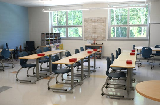 A classroom at the new Lincoln Avenue Middle School in Vineland.