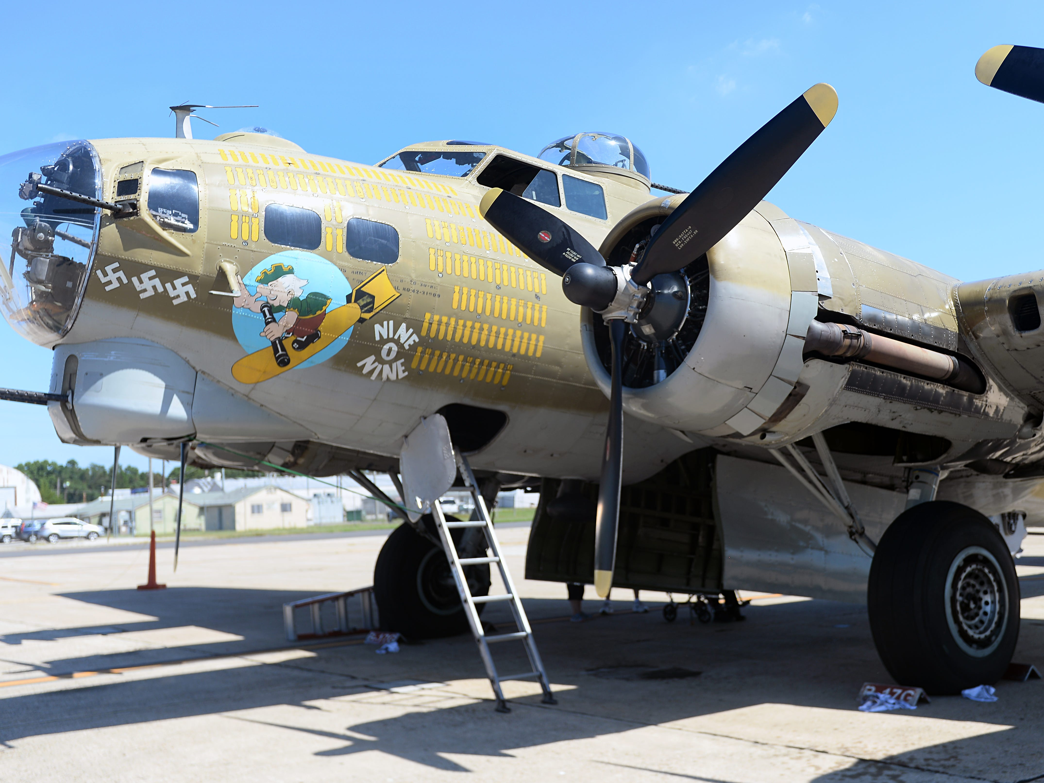 "The B-17 ""Flying Fortress"" was one of the vintage warbirds on display during a special event honoring World War II veterans at the Millville Army Air Field Museum on Thursday, August 30."
