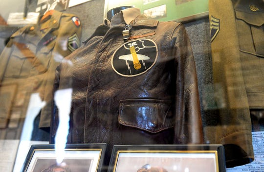 A vintage bomber jacket on display at the Millville Army Air Field Museum on Thursday, August 30.