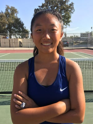 Redwood High's Claire Yang is the Times-Delta's prep athlete of the week for Aug. 27.