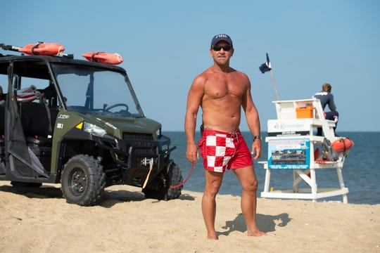 Captain Tim Ferry with the Fenwick Island Beach Patrol has for more than four decades kept a close eye on the surf as a Delaware lifeguard.