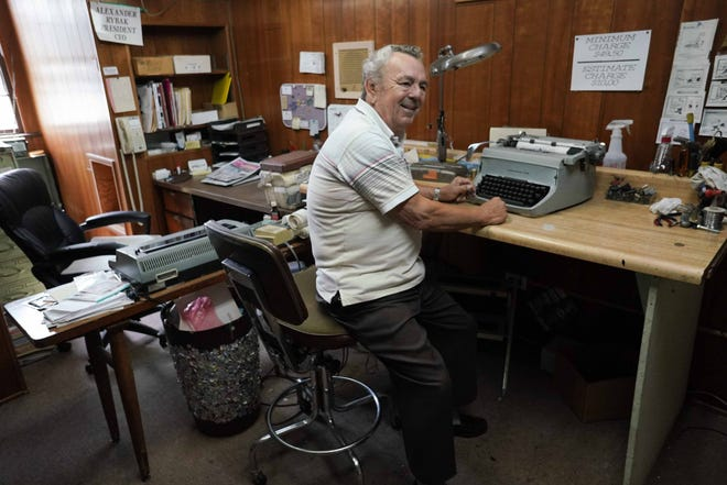 Alexander Rybak is closing the doors to his typewriter and machine repair shop Eastern States Business Equipment Co. on Philadelphia Pike. Rybak is one of last typewriter repairman in Delaware spending decades fixing typewriters, adding machines, cash registers, and many other machines.