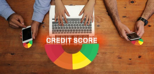 Credit Score on screen
