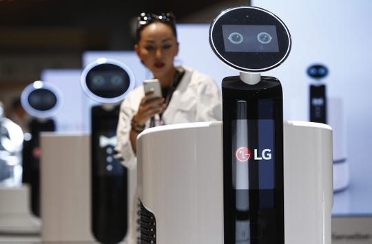 Home robots were on display at a consumer electronics show in Germany in 2018.