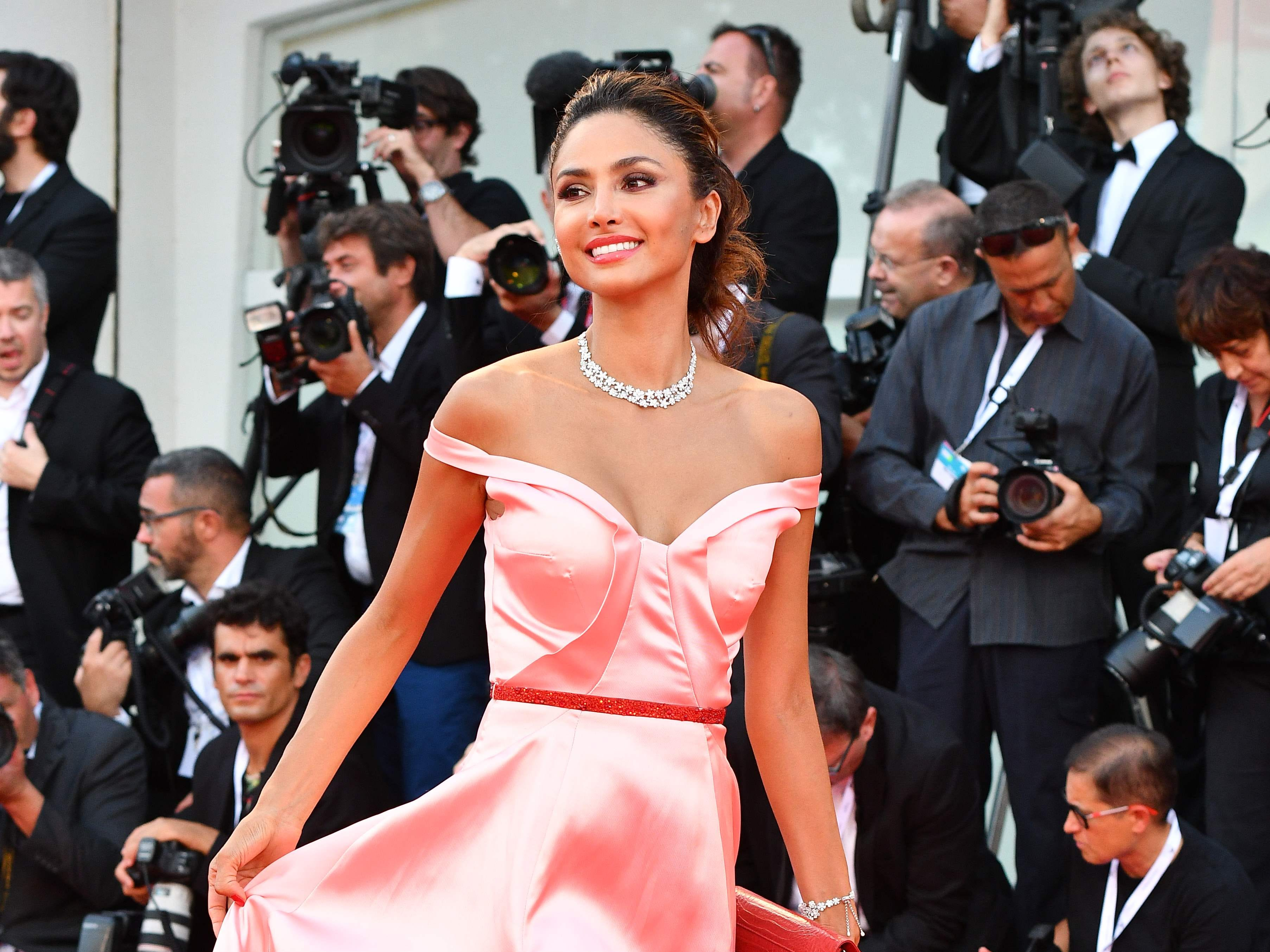 """Actress Patricia Contreras arrives for the premiere of the film """"Roma"""" presented in competition on August 30, 2018 during the 75th Venice Film Festival at Venice Lido. (Photo by Vincenzo PINTO / AFP)VINCENZO PINTO/AFP/Getty Images ORIG FILE ID: AFP_18Q11G"""