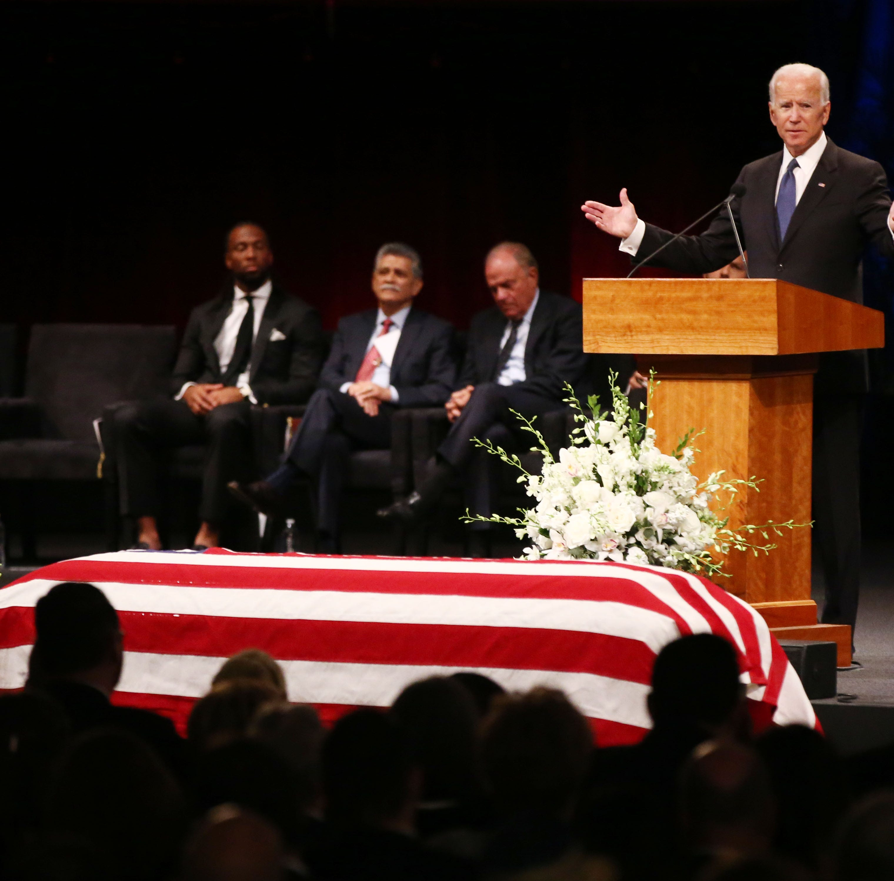 McCain's last lesson in love of country: Eulogies from Bush and Obama, who dashed his dreams