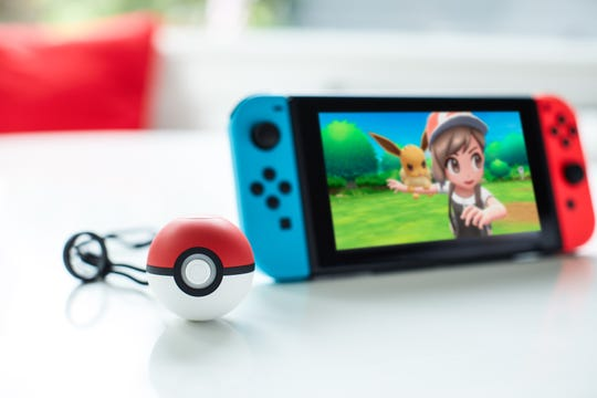 Two games for Nintendo Switch -- Pokémon: Let's Go, Pikachu! and Pokémon: Let's Go, Eevee! -- let you use a new Poké Ball Plus controller.