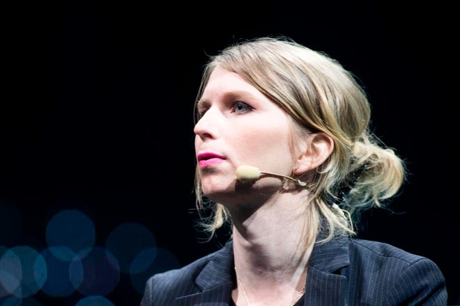 In this file photo taken on May 24, 2018 Former U.S. soldier Chelsea Manning speaks during the C2 conference in Montreal, Quebec on August 29, 2018.