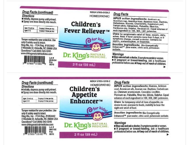 The FDA has expanded a voluntary recall for Dr. King's homeopathic health products for kids, adults and pets out of concerns for contaminated water.