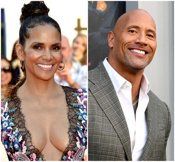 "Halle Berry and Dwayne ""The Rock"" Johnson"