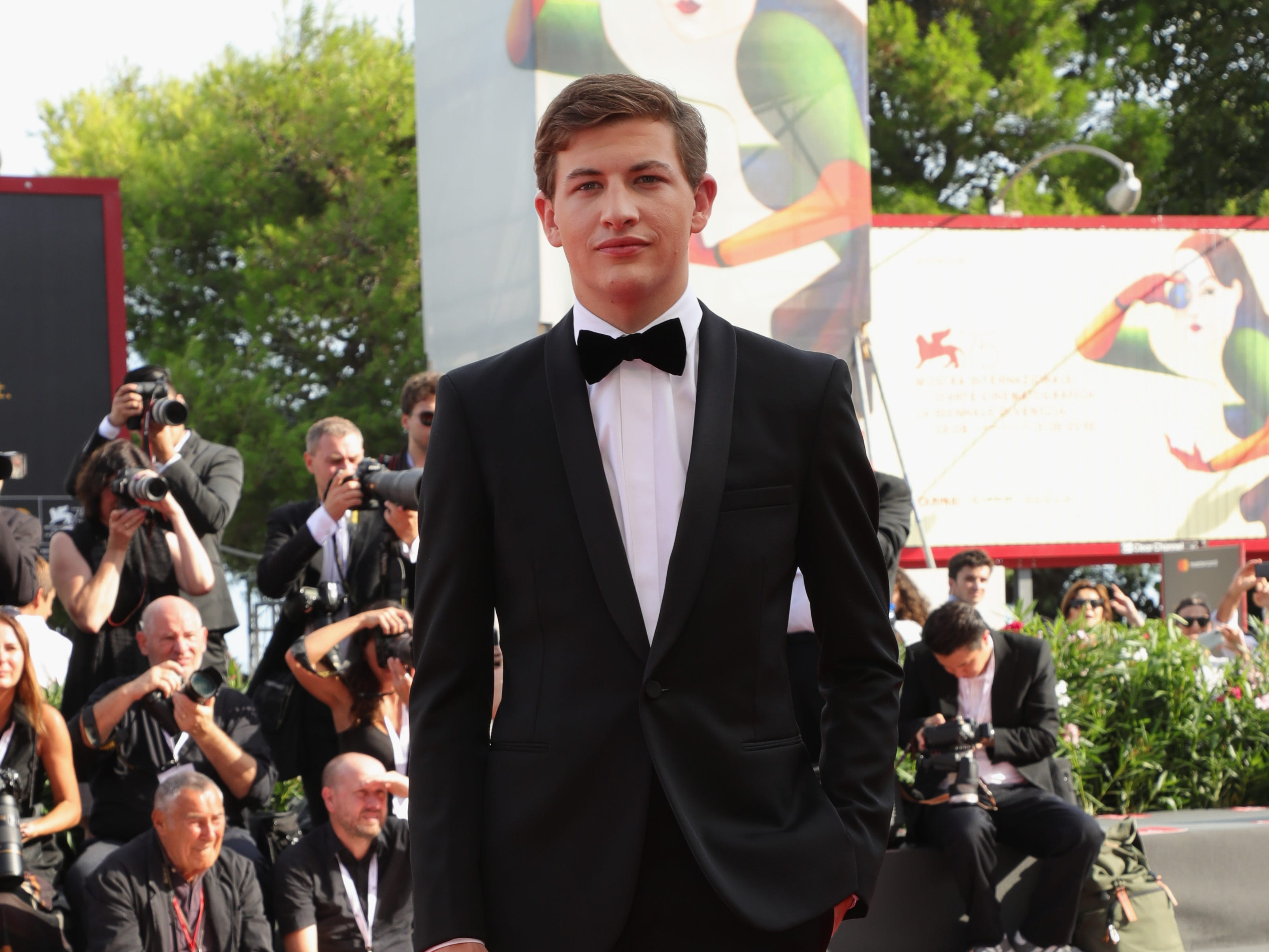 VENICE, ITALY - AUGUST 30:  Tye Sheridan walks the red carpet ahead of the 'The Mountain' screening during the 75th Venice Film Festival at Sala Grande on August 30, 2018 in Venice, Italy.  (Photo by Vittorio Zunino Celotto/Getty Images) ORG XMIT: 775200672 ORIG FILE ID: 1025261630