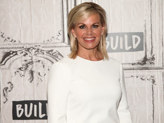 """Gretchen Carlson in October 2017 on tour for her book """"Be Fierce: Stop Harassment and Take Back Your Power"""" at AOL Studios in New York."""