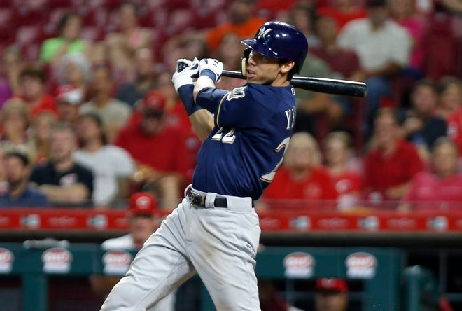 Christian Yelich hit for the eighth cycle in Brewers franchise history.