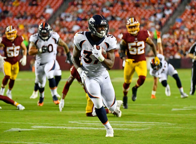 Royce Freeman, a third-round pick in the 2018 draft, already has three rushing touchdowns in the preseason.