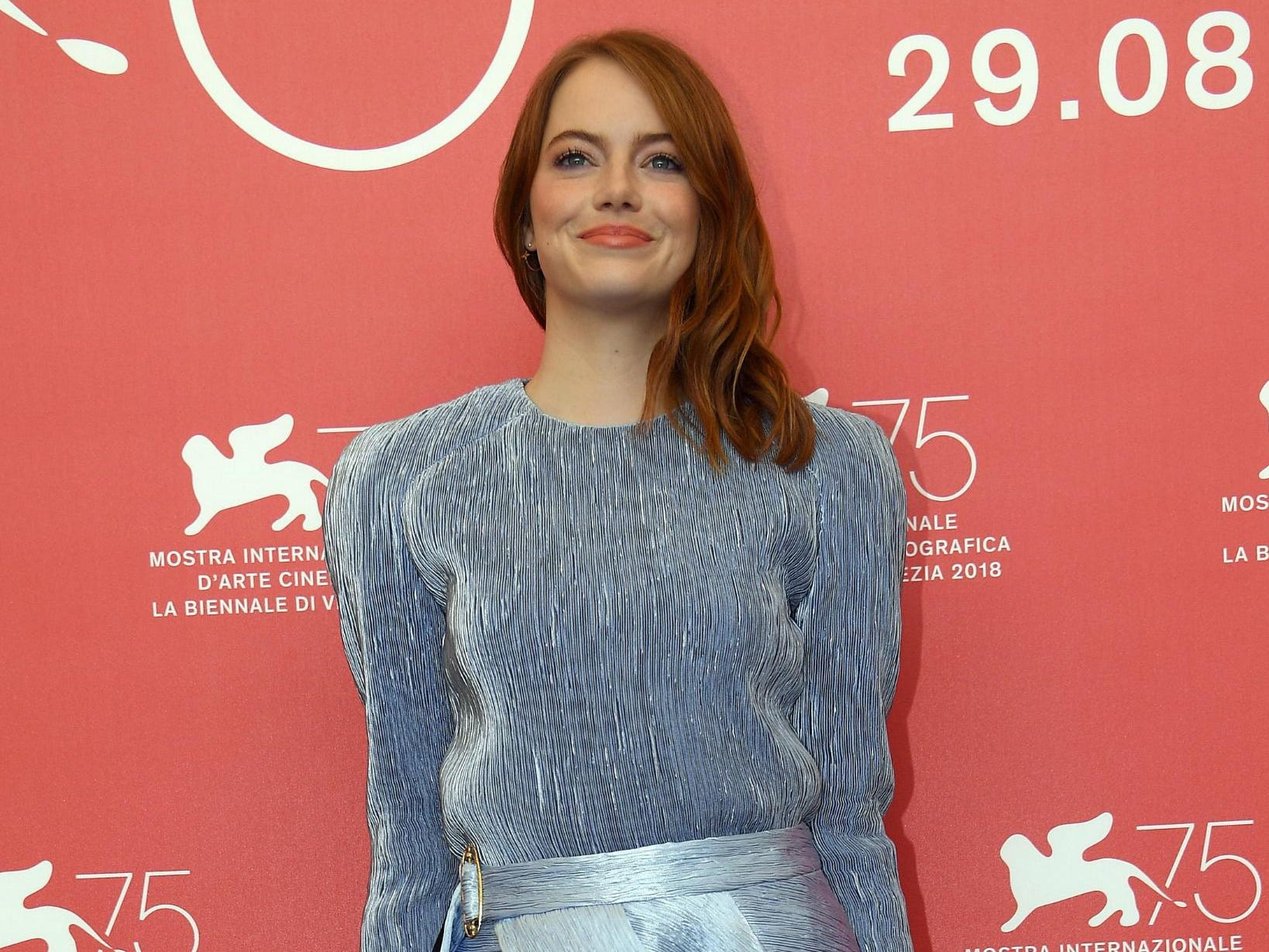 """The 75the Venice Film Festival is up and running in Italy, where it continues until sept. 8. One night after her """"La La Land"""" co-star Ryan Gosling hit the red carpet to promote """"First Man,"""" the Oscar winner took her turn, promoting """"The Favorite."""" x"""