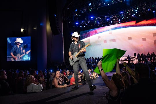 Brad Paisley at the PNC Bank Arts Center in Holmdel, NJ, on Thursday, August 30, 2018.