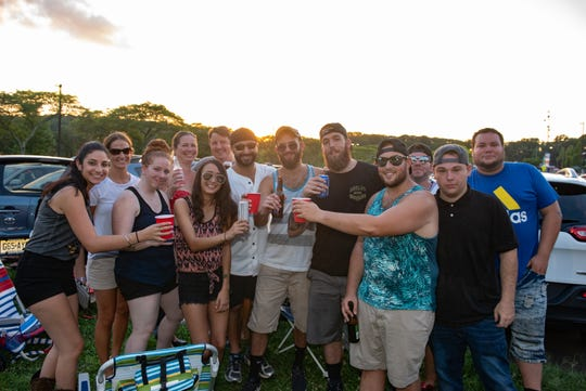 Tailgaters are pictured in the parking lot before the concert. Country music singer Brad Paisley performed at the PNC Bank Arts Center in Holmdel, NJ, Thursday, August 30, 2018.