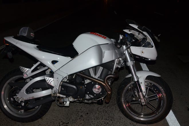 The Toms River Police Department released this photo of the motorcycle involved in Thursday morning's horrific crash that resulted in a missing severed arm.