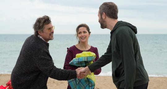 """Ethan Hawke, Rose Byrne and Chris O'Dowd star in """"Juliet, Naked,"""" based on the novel by Nick Hornby."""
