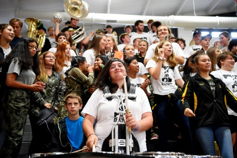 Tuscola High School held a pep rally in preparation for their rivalry game against Pisgah August 31, 2018 .