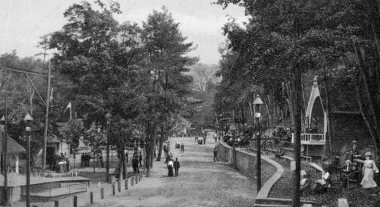 An early path through Ross Park, about 1890.