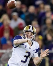 Jake Browning leads the Washington Huskies against Auburn on Saturday.