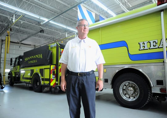 Swannanoa native Anthony Penland, the chief of the Swannanoa Fire Department, was sworn in as president of the N.C. State Firefighters Association on Aug. 11.