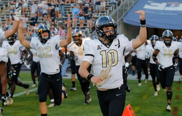 UCF quarterback McKenzie Milton was named the AAC Offensive Player of the Week.