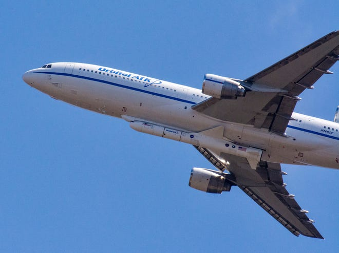 On June 6, 2018, Northrop Grumman's L-1011 Stargazer aircraft took off from Vandenberg Air Force Base in California with a Pegasus XL rocket carrying NASA's Ionospheric Connection Explorer mission. The flight returned to California because of a technical issue, and the mission is now targeting an Oct. 26 liftoff from Cape Canaveral Air Force Station's Skid Strip.