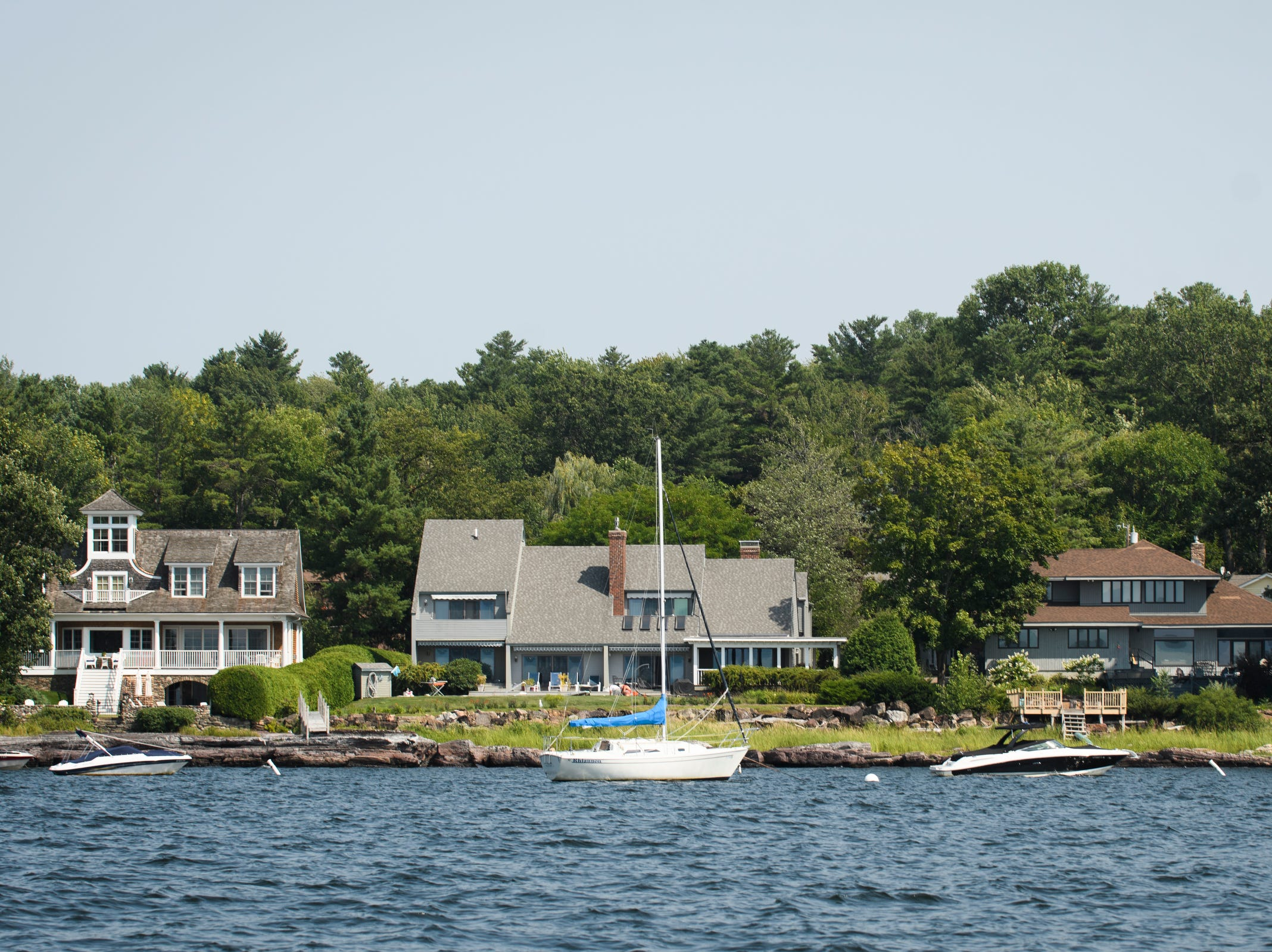 A house on the water during a tour of the waterfront real estate along the shores of Lake Champlain on Friday afternoon August 24, 2018 in Shelburne Bay.