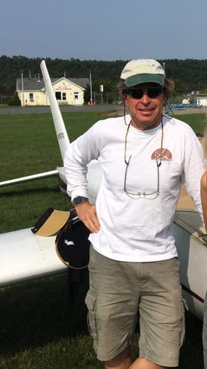 Don Post, who died in a glider crash Wednesday, poses in late August at the Morrisville-Stowe State Airport