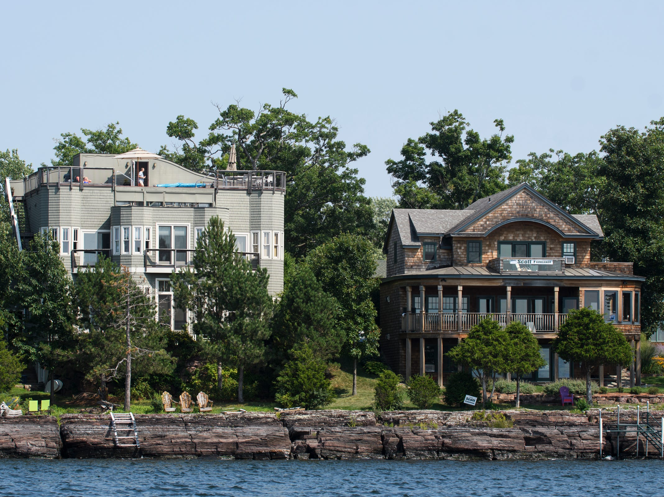 A house on the water during a tour of the waterfront real estate along the shores of Lake Champlain on Friday afternoon August 24, 2018 in Burlington.