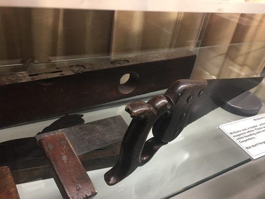 The woodworking tools of Labor Day founder and carpenter Peter J. McGuire   are now on display at the  Northeast Regional Council  of Carpenters in Philadelphia courtesy of his great-granddaugher, Kathleen Rossell of West Collingswood Heights.