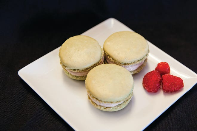 The macaron is a delicate meringue-type cookie filled with ganache, fruit jelly or buttercream. There so many fun flavors like pistachio, lemon, and key lime - or raspberry at summer's end.