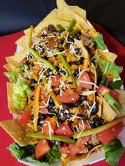The latest offering from Los Gringos Street Tacos Express is this taco salad.