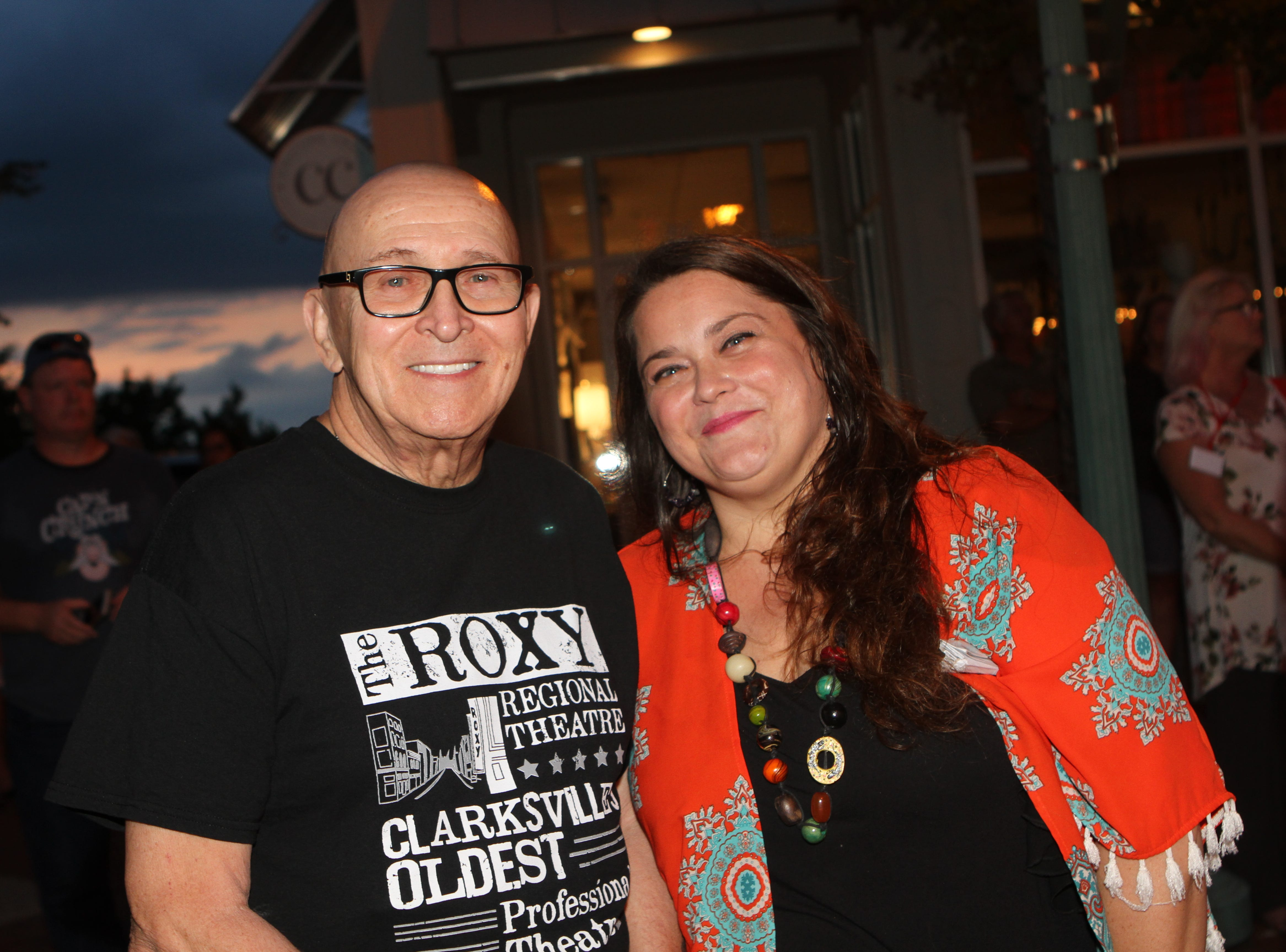 Walter Marczak and Nicole O'Connor at the Roxy Regional Theatre for the United Way 2018 campaign fundraising event Thursday night.
