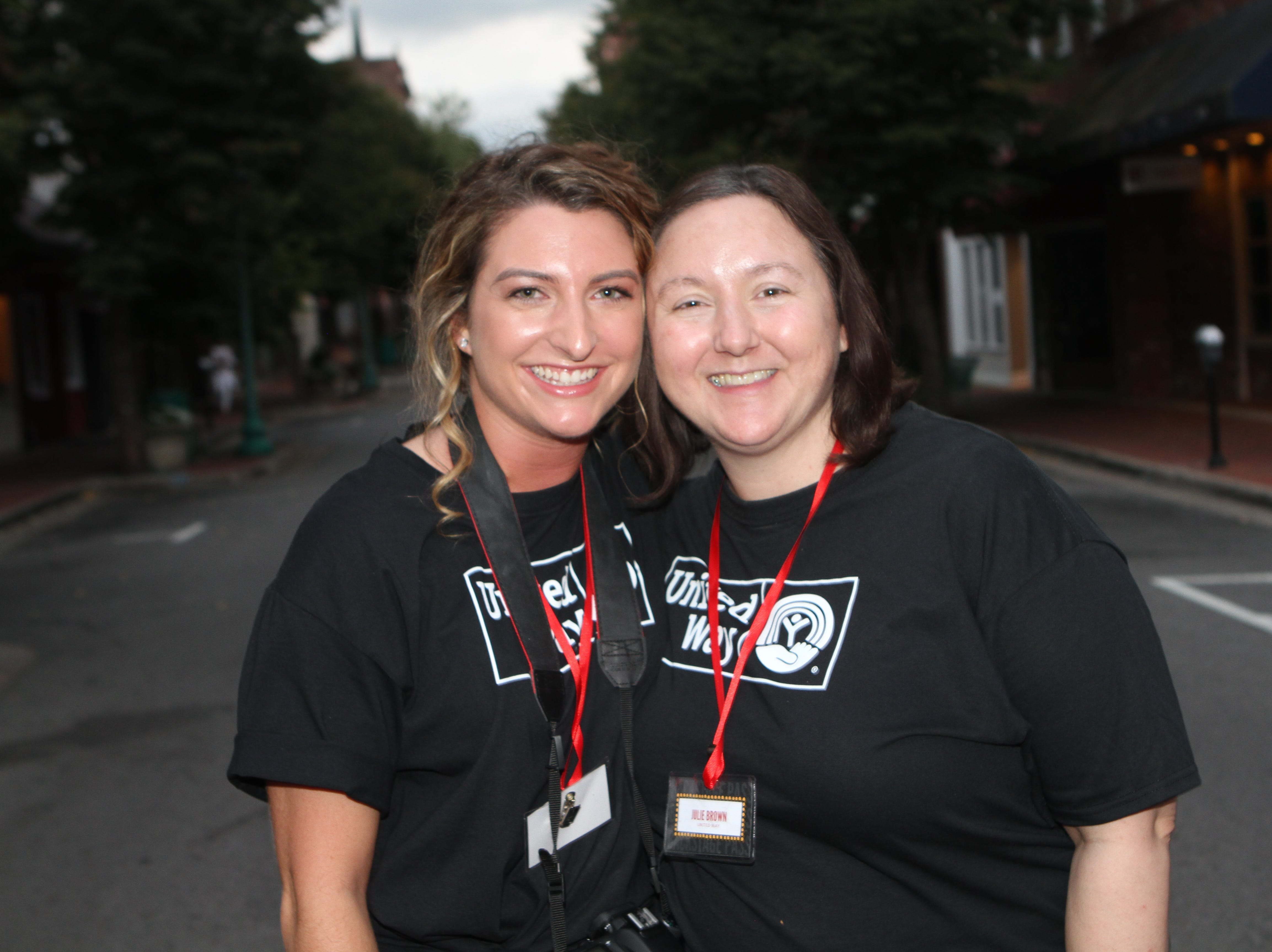 Hannah Byard and Julie Brown at the Roxy Regional Theatre for the United Way 2018 campaign fundraising event Thursday night.