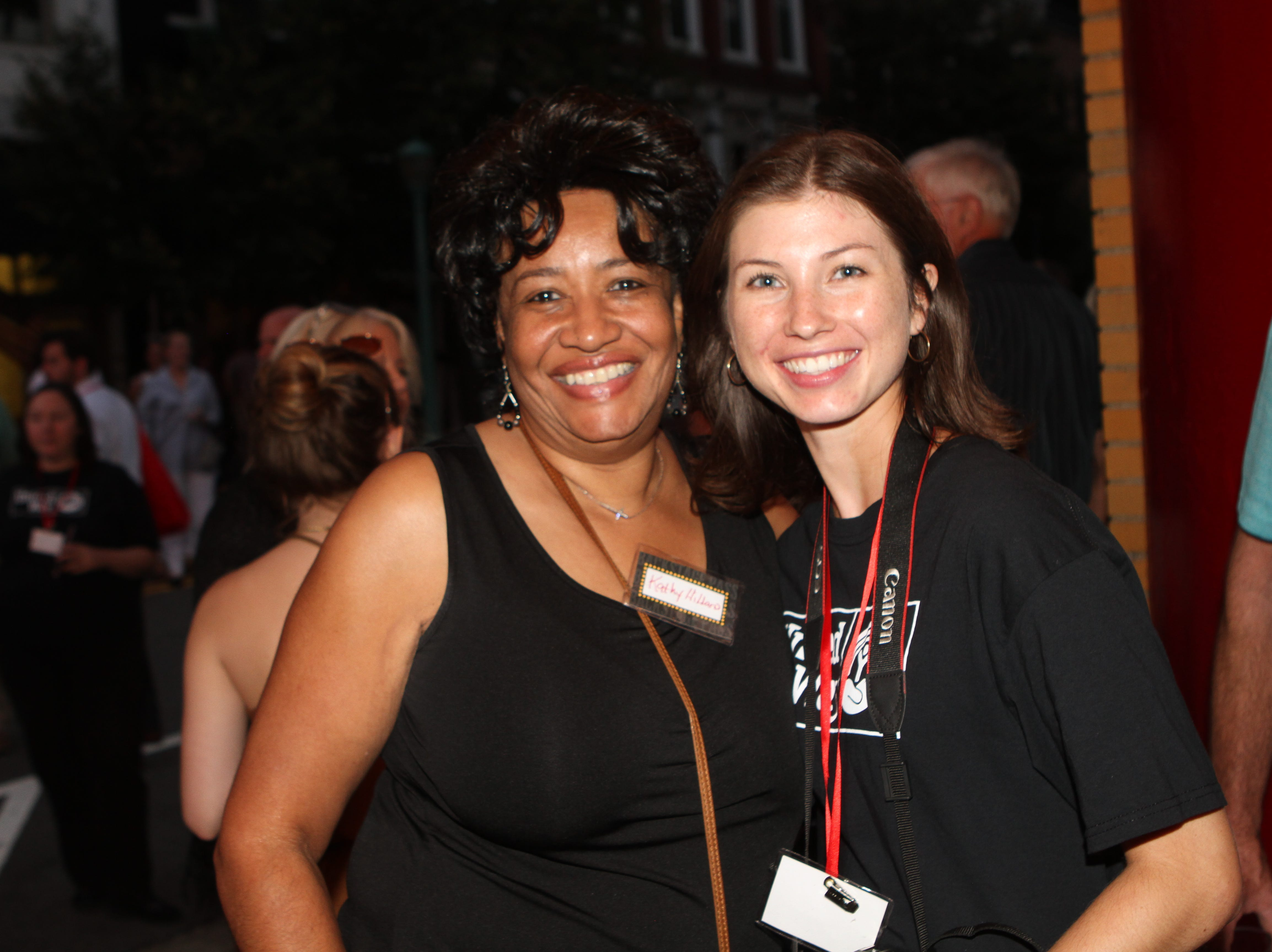 Cathy Hillard and Sarah Wood at the Roxy Regional Theatre for the United Way 2018 campaign fundraising event Thursday night.