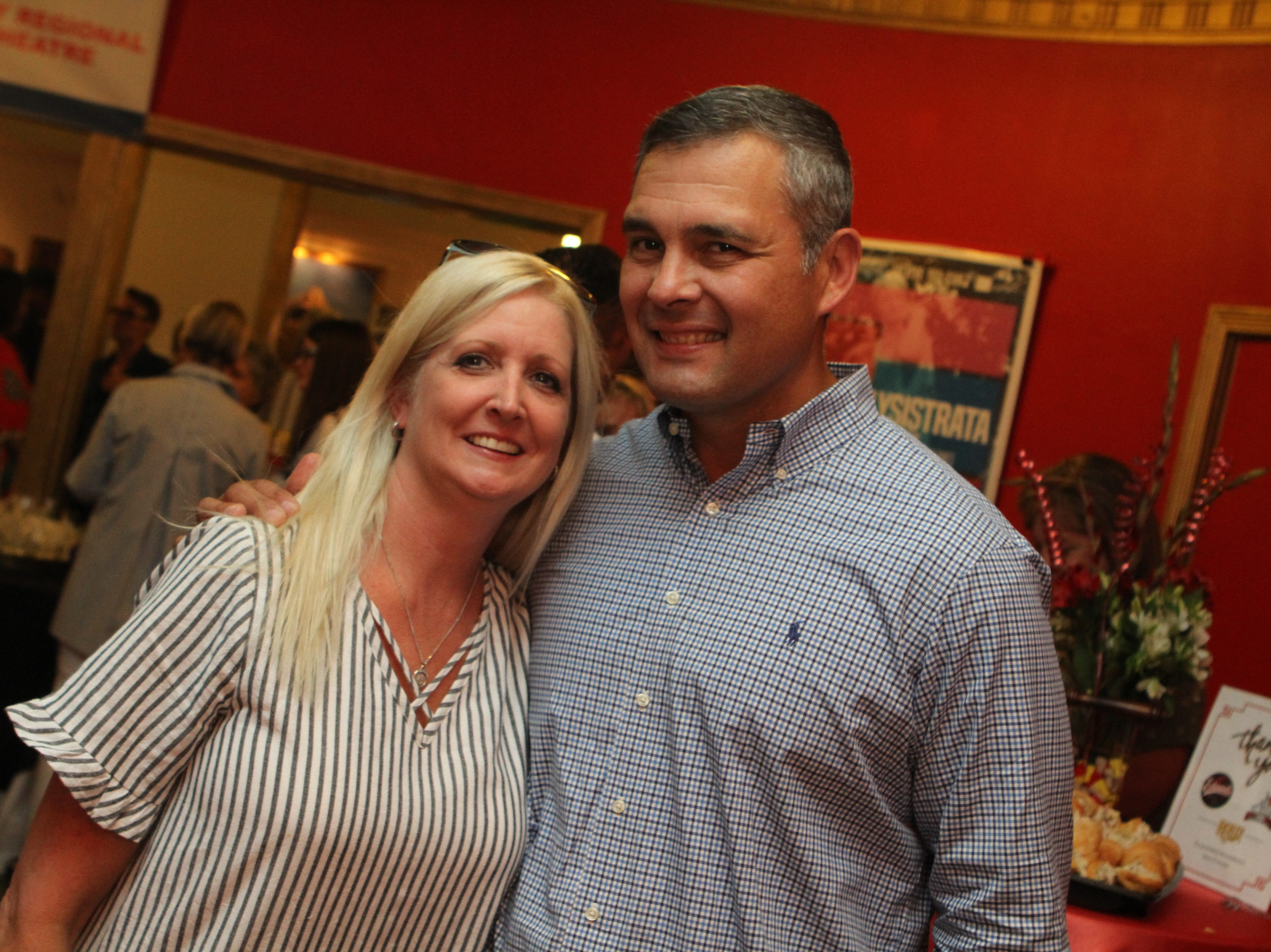 Andrea and Sal Herrera at the Roxy Regional Theatre for the United Way 2018 campaign fundraising event Thursday night.
