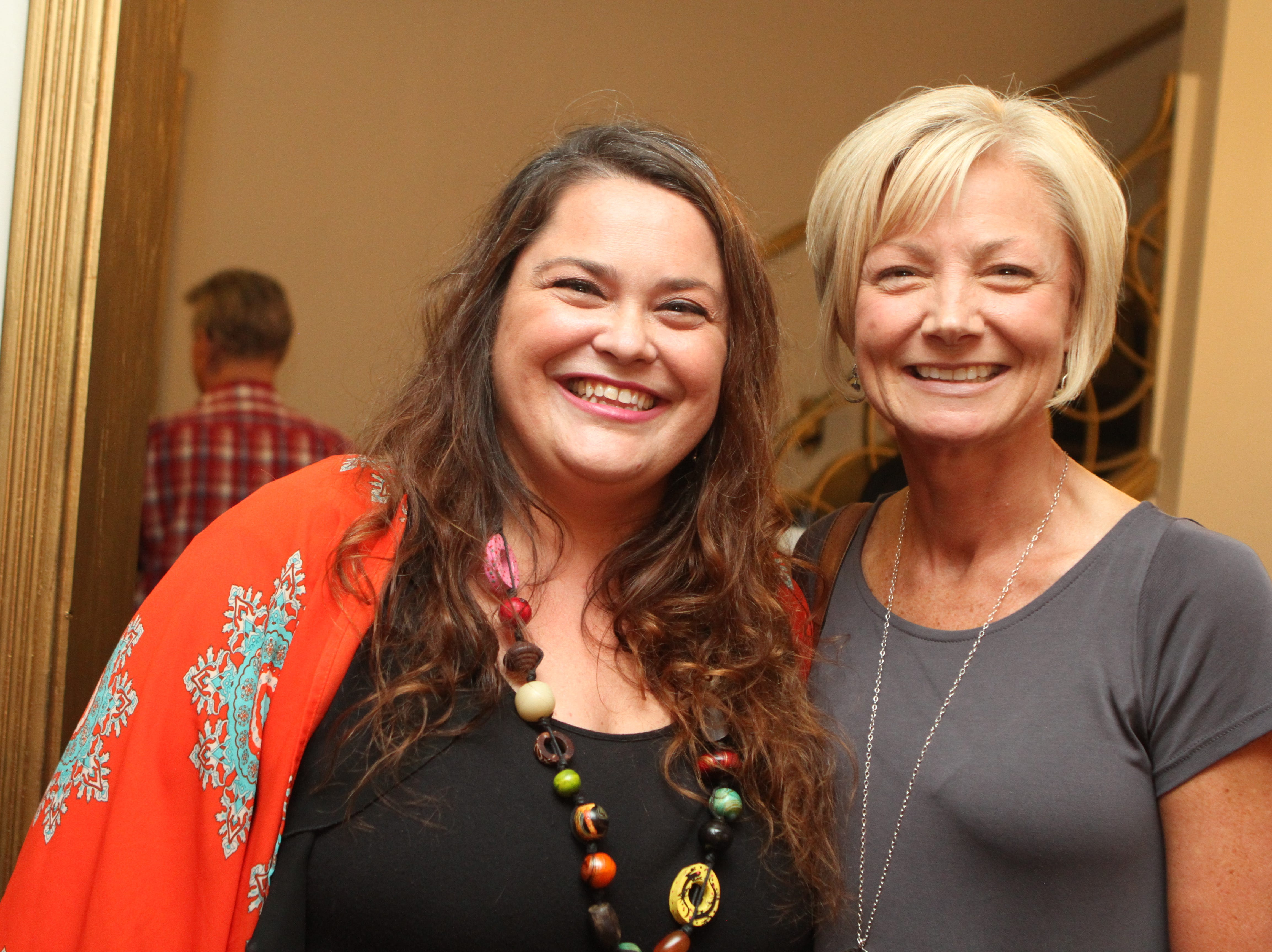 Nicole Oconnor and Lisa Martin at the Roxy Regional Theatre for the United Way 2018 campaign fundraising event Thursday night.