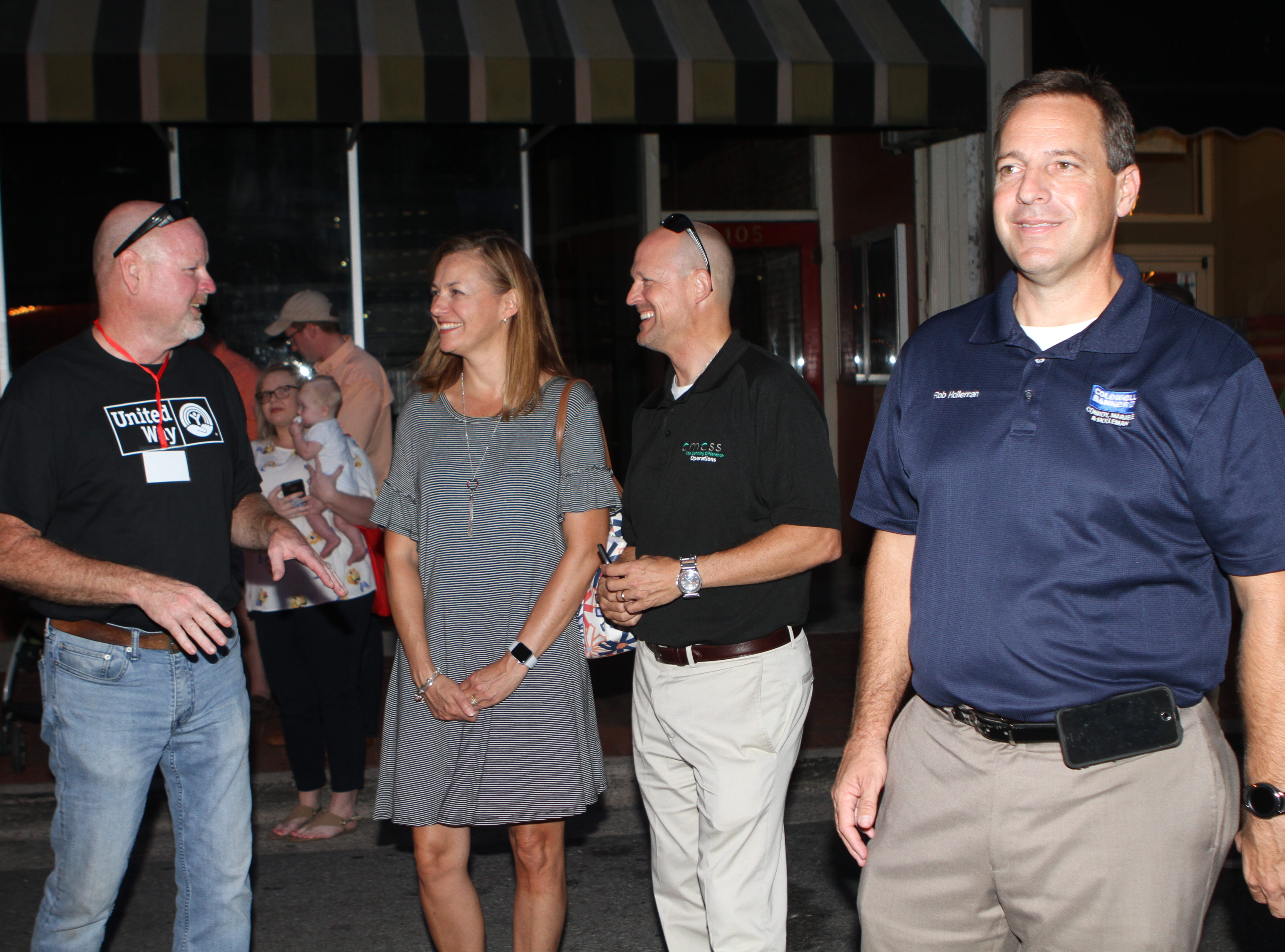 United Way of Clarksville used Roxy Regional Theatre's newly restored marquee to announce its 2018 campaign fundraising goal Thursday night.