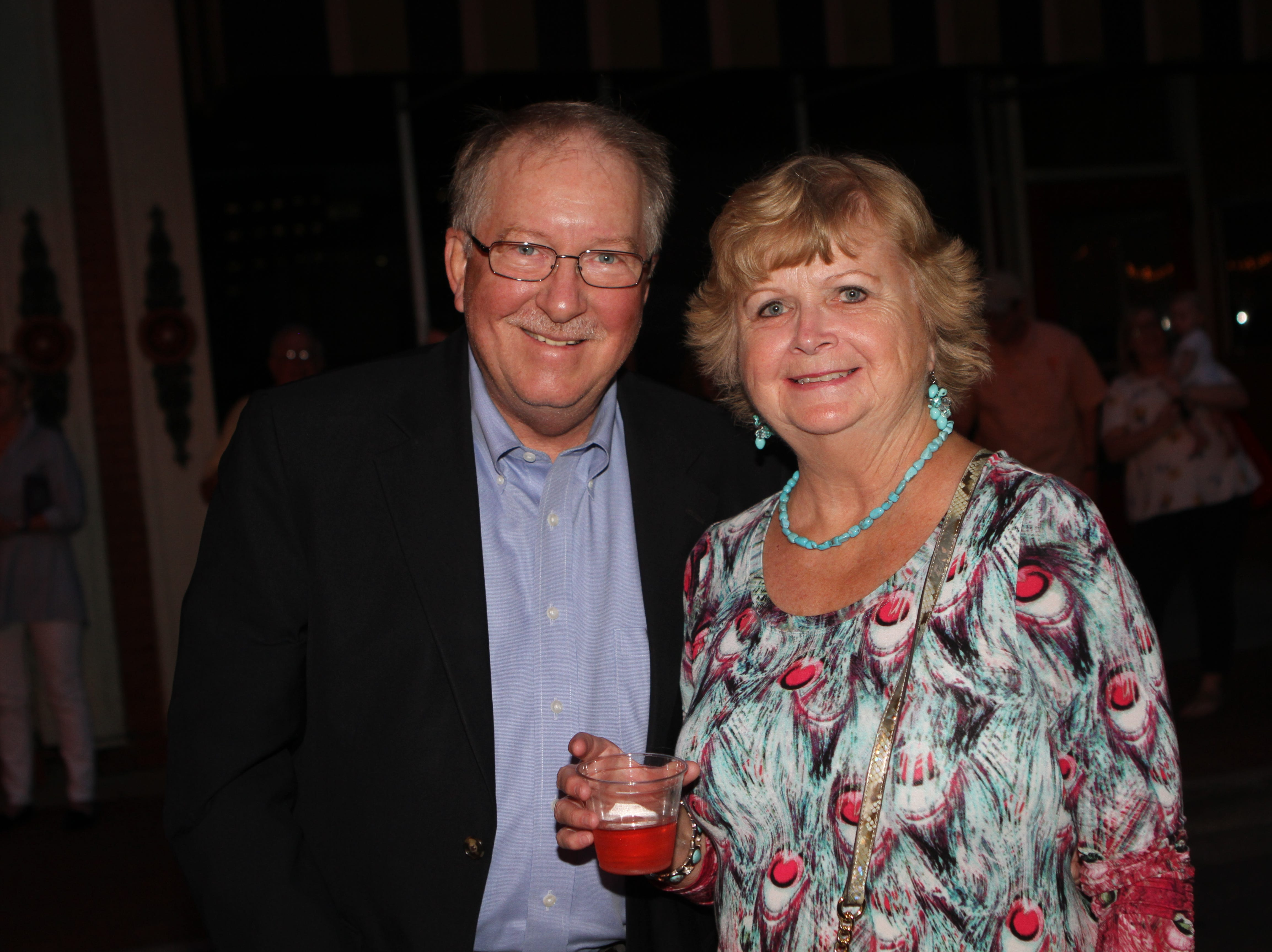 Frank Lott and Patti Marquess at the United Way of Clarksville and Roxy Regional Theatre event Thursday night.